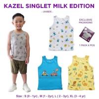 Kazel Singlet Milk Unisex 1 box 4 Pcs / Singlet Anak Unisex