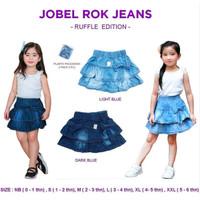 Kazel Jobel Rok Jeans Ruffle 1 pack isi 2 / Rok Jeans Anak