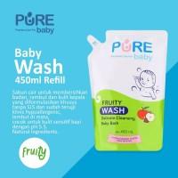PURE Baby Wash 450ml Refill Fruity / Sabun Mandi Bayi EXP. 2022