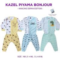 Kazel Piyama Boy Kancing Depan Bonjour / Piyama Anak Laki-Laki