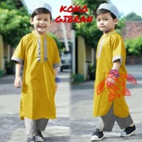 STELAN KID KOKO GIBRAN LEMON [Baju Muslim Anak 0129] SE7 Baju Gamis