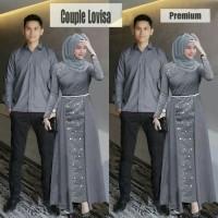 Couple Lovisa Grey [Baju Couple 0152] SIW Baju Gamis