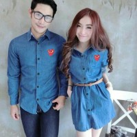 Couple Dress denim Garcon [Pakaian Couple 0124] SAY Pasangan