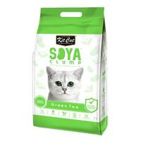 Kit Cat Tofu Soya Clump Litter 7L Green Tea Pasir Kucing Gumpal Teh