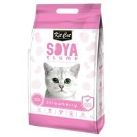 Kit Cat Tofu Soya Clump Litter 7L Strawberry Pasir Kucing Gumpal