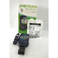 Alat Cek UP Monitor Tes Gula Darah Glucose One Touch Ultra Plus Flek