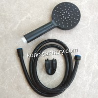 Hand shower kamar mandi hitam doff / Shower spray dinding black mate