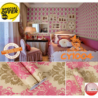 Batik Mewah Collection Wallpaper Sticker Dinding - Wallpaper Stiker