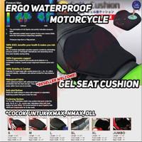 Lapisan Bantalan Jok Motor Ergo Gel Seat Cushion Waterproof