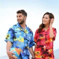 Kemeja Motif Pantai Surfing Bali Tropical Summer M