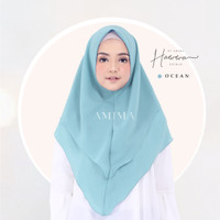 AMIMA HAWWA Khimar Diamond Georgette Polos Double Layer Ocean