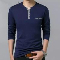 BUTTON NAVY [Pakaian Pria 0148] SDE Baju Kaos