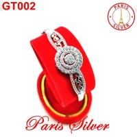 Gelang tangan bangkok permata full perak 925 silver wanita bangle