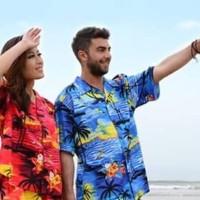 Kemeja Motif Pantai Surfing Bali Tropical Summer XL