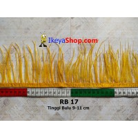 Bulu Single Ostrich Pendek Kuning Tua (RB 17)