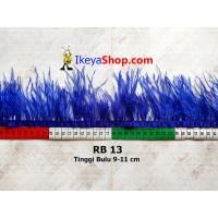 Bulu Single Ostrich Pendek Biru Tua (RB 13)