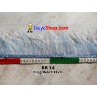 Bulu Single Ostrich Pendek 14 (RB 14)