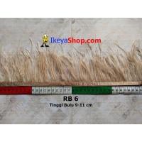 Bulu Single Ostrich Pendek 6 (RB 6)