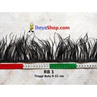 Bulu Single Ostrich Pendek Hitam (RB 1)
