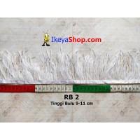 Bulu Single Ostrich Pendek Putih (RB 2)