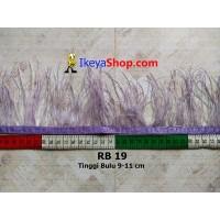 Bulu Single Ostrich Pendek Ungu Cerah (RB 19)