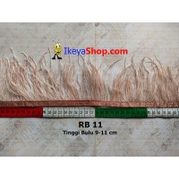 Bulu Single Ostrich Pendek 11 (RB 11)