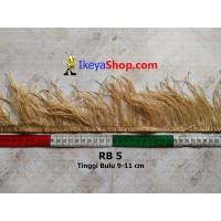 Bulu Single Ostrich Pendek 5 (RB 5)