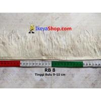 Bulu Single Ostrich Pendek 8 (RB 8)