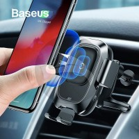 BASEUS SMART VEHICLE CAR PHONE HOLDER FAST WIRELESS CHARGER CHARGING