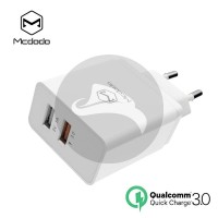 MCDODO CHARGER QUICK CHARGE QC 3.0 FAST CHARGING TRAVEL WALL DUAL PORT