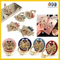 PROMO Iring Ring Stand HP Besi Diamond Swarovski Motif Karakter Hellok