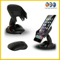 PROMO Car Holder Stand Handphone Mobil Bentuk Mouse Universal Pegangan