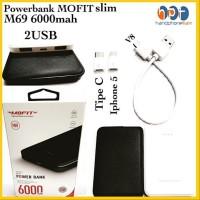 PROMO MOFIT Powerbank By VEGER M69 6000 mAh Power bank Real Capacity O
