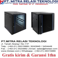 """INDORACK - WIR6008S Wallmount Single Door 19"""""""