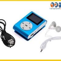 PROMO Mp3 Mini Music Player Mp3 LCD Jepit Shuffle Besi Slot Memory Mic