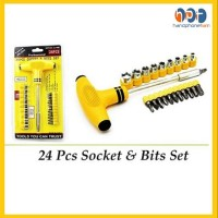 PROMO Obeng Dan Kunci T Five Star 24pcs Socket Screwdriver Bits Set Mu