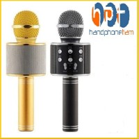 PROMO Wster Mic Ws-858 Bluetooth Wireles Mic Karaoke Smule Micropon Bi