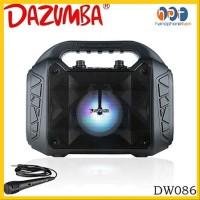 PROMO Speaker Bluetooth Portable Dazumba DW 086 Karaoke Free MIC With