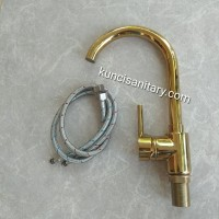 Kran wastafel gold chrome mixer panas dingin/Keran kitchen sink emas