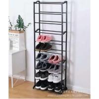AY Amazing Shoes Rack / Rak Sepatu 10 Susun Hitam
