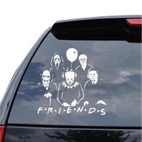 Sticker Mobil Vinyl Reflektif Horor IT, SCREAM, JASON, MYERS, JIGSAW