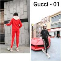 Setelan Kaos Gucci - 01 / Import / Premium