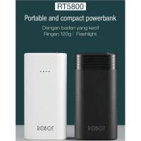 Powerbank Robot RT5800 with LED 5800mAh power bank original