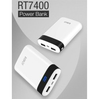 Powerbank Robot RT7400 Led display power bank 6600mAh 2 port original