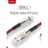 Kabel data vivan BTKL fast charging cable iphone 2.4a 100cm original
