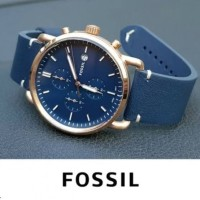 Jam tangan Fossil FS 5404 Leather blue