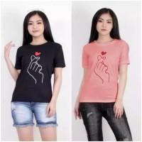 Baju Kaos Wanita Sarangheo murah gambar bordir