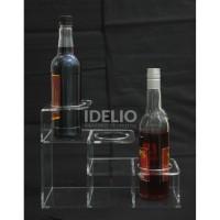 Tatakan Botol Akrilik Bottle Stand 3 Tingkat