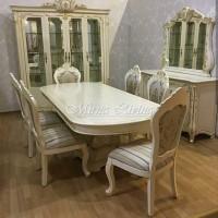 Meja Makan Putih K6 T D266