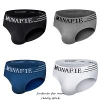 Munafie Celana Dalam Model Mid Rise Seamless Bahan Nylon Breathable un